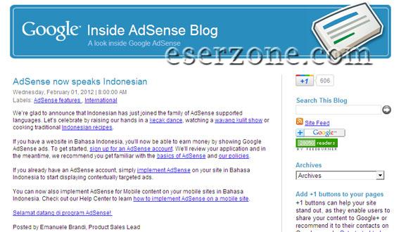 Google Adsense Support Blog Bahasa Indonesia Google Adsense Resmi Support Bahasa Indonesia Dengan 3 Syarat Tambahan