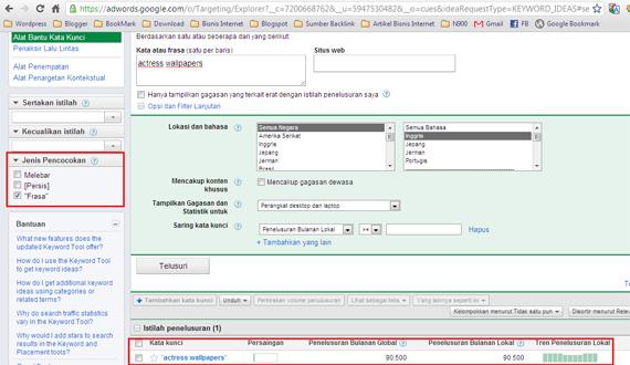 Riset Keyword Dengan Google Keyword Tool Riset Keyword Dengan Google Keyword Tool