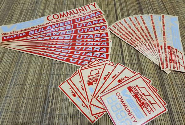 Stiker VES Community Chapter Sulawesi Utara Seru seruan di Kopdar Perdana VES Community Chapter Sulawesi Utara