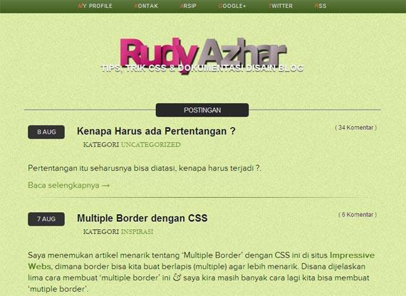 Tips Trick CSS dan Desain Blog bersama ruddy azhar Tips Trick CSS dan Desain Blog