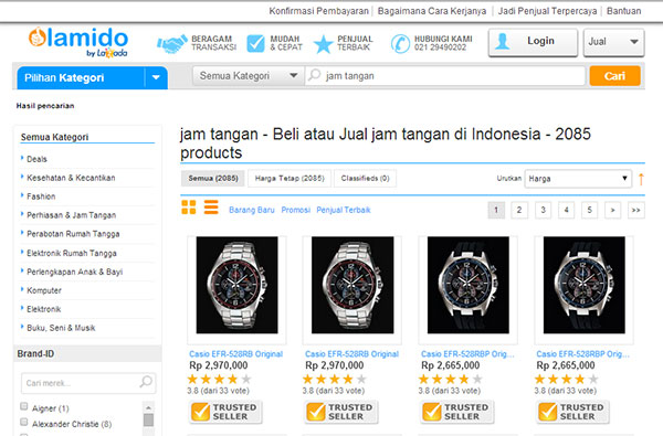 Tips membeli jam tangan online di lamido indonesia Tips Membeli Jam Tangan Online Agar Terhindar Dari Penipuan