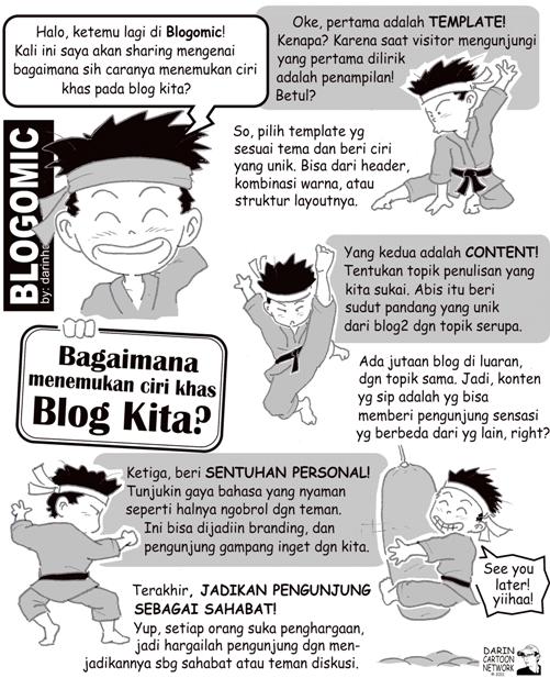 ciri khas blog darinholic Sang Kartunis Blogger