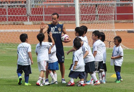 coaching clinic la galaxy  Sepakbola Indonesia Tidak Akan Pernah Maju