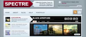 spectre theme 10 Template Wordpress Terbaik Gratis